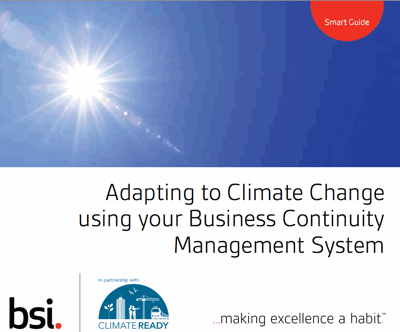 Adapting to Climate Change using your business continuity system