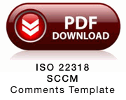 Download ISO 22318 Supply Chain Continuity Management - Comments Template