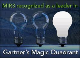MIR3 a Gartner Magic Quadrant firm | Intelligent notification